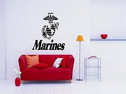 Amazon.com: Marine Decal Marine Sticker Marine Wall Art the Few the ...