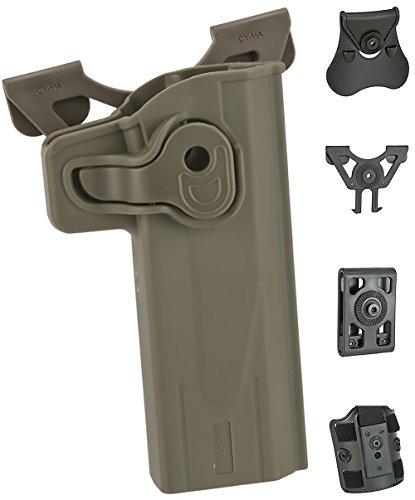 Evike Matrix Hardshell Adjustable Holster - STI Hi-Capa 2011 Series Pistols - FDE - MOLLE - Right-H - (62438) ()