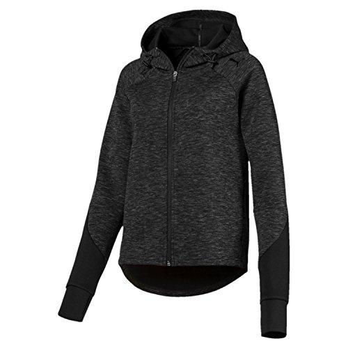 Hoody Noir heather Fz Puma Black Evostripe Femme Sweat shirts cotton WxavEnzv