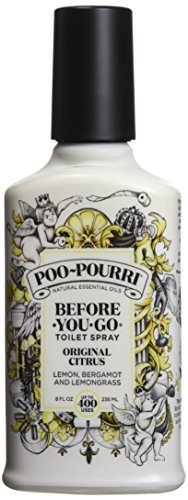 - Poo-Pourri Before-You-Go Toilet Spray 8 oz Bottle, Original Citrus Scent