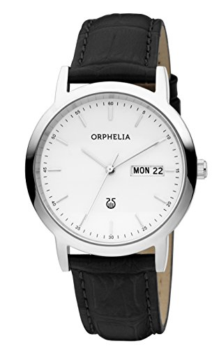 ORPHELIA Men's Analogue Momento Black Leather-61605