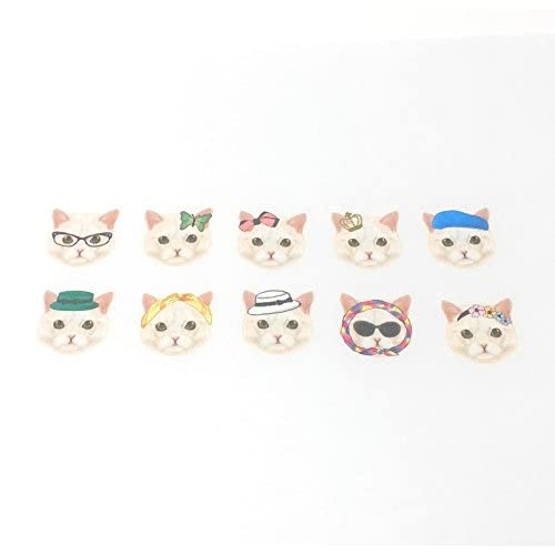 Wholesale Bande Tape Masking Stickers Classical & Fem White Cat Face for Scrapbooking DIY (BDA001) for sale