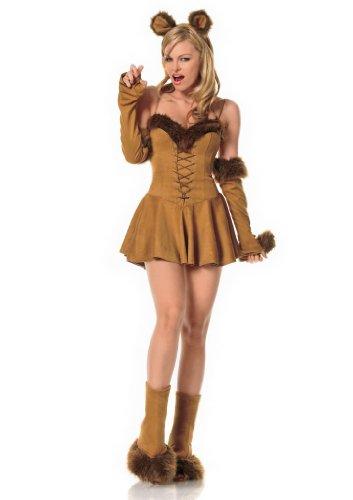 Leg Avenue Women's Cuddly Lion Costume, Brown, X-Small