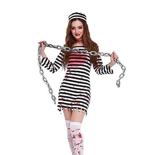 Lisli Halloween Horror Zombie Bloody Prisoner Costume Cosplay Party Fancy Dress  sc 1 st  Costume Overload & Affordable Prisoner u0026 Felon Uniform Costumes for Women