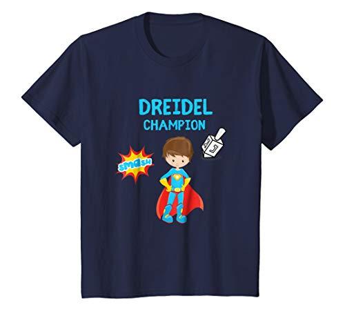 Kids Boys Hanukah Dreidel Spinning Top Shirt Gift Lights For Kids 6 Navy