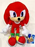Sega Sonic The Hedgehog Knuckles Red Stuffed Plush Doll Character Toy 12'