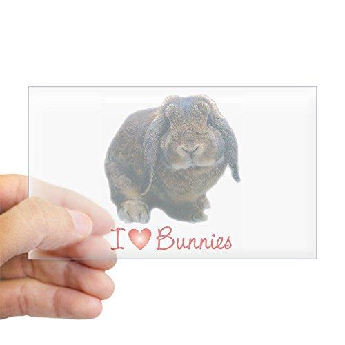 CafePress Bunny Lover Rectangle Sticker Rectangle Bumper Sticker Car Decal -
