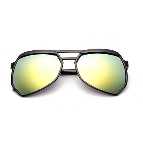Oro Aviador Moda Caja con de Azul Frame de Ligero Sol Color Protección LVZAIXI Sunglasses polarizadas UV400 Peso Metal Gafas Deportes de S1z86xR