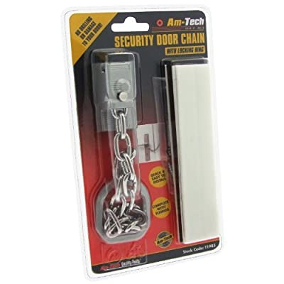 HEAVY DUTY CHAIN LOCK LOCKING WITH SCREWS DOOR SECURITY LOCKS AS SEEN ON TV-SOVI by Amtech