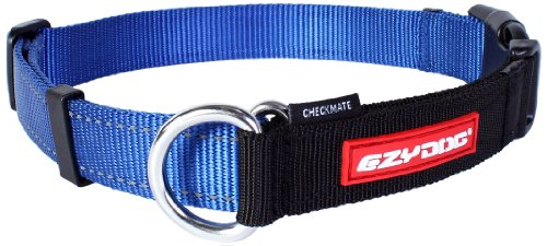 Ezydog Checkmate Collar, Medium, Blue
