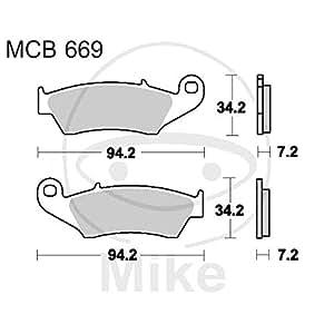 TRW Automotive AfterMarket MCB669SI - Pastilla de freno para motocicleta