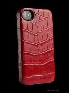 SenaCases Lugano - Funda para iPhone 4/4S, color rojo