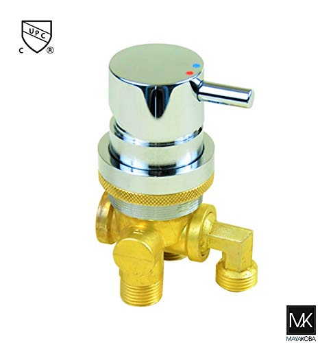 3-Way Faucet for Pedicure Spa chair, Shampoo Bowls. Hot and Cold Water Mixer, Sink Replacement Part for Salon, Spa, Rehab ()