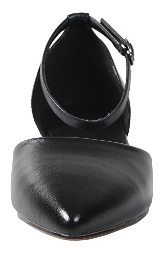 IRANDA Damen Pumps, Schwarz - Black Smooth Leather - Größe: 38 EU