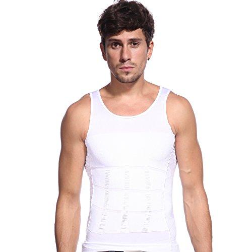 Men Man Extra Tight Slimming Body Shaper Vest Chest Belly Waist Shaper Top Shirt