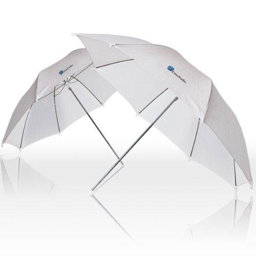 LimoStudio 33'' Black & Gold Umbrella Double Light Lighting Kit - Black/Gold Reflective Umbrella, White Reflective Umbrella, 45W CFL Daylight Bulb, Exclusive Premium Carry Bag, AGG1298 by LimoStudio (Image #4)