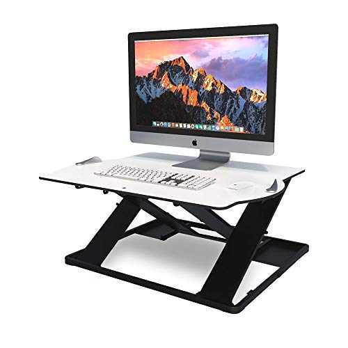 Posturite Opløft Standing Desk | Sit-Stand Ergonomic Workstation, Adjustable Height Computer/Laptop Stand, Durable and Lightweight, Professional Modern Design