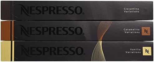 Nespresso OriginalLine: Vanilio,Ciocattino, Caramelito, 30 Count - ''NOT compatible with Vertuoline''