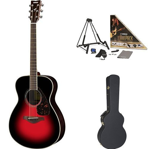 Yamaha FS830 Small Body Acoustic Guitar Dusk Sun Red with Yamaha Concert-Size Guitar Case and Accessory Pack [並行輸入品]   B07FSK47S5