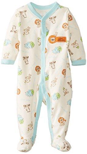 Vitaminas Bebé Bebé-Niños Recién Nacidos Sleepy Safari patas Mono, Marfil, 3 Meses