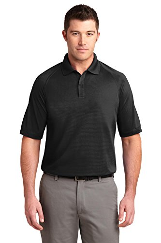 Port Authority Men's Dry Zone Ottoman Polo L Black ()