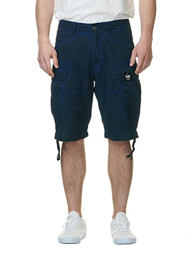 G-Star Raw Men's Rovic Loose 1/2 Shorts Hudson, Hudson Blue/Imperial Blue, 31 by G-Star Raw