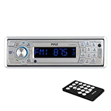 Pyle PLCD5MRBTS AM/FM Marine In-Dash Fold Down Detachable Face Radio with CD/MP3/USB/SD/AUX Input and Bluetooth Wireless Technology