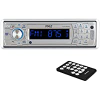 Pyle PLCD5MRBTS Bluetooth Stereo Radio Headunit Receiver, Wireless Streaming & Call Answering, Aux (3.5mm) MP3 Input, CD Player, USB Flash & SD Card Readers, Remote Control, Single DIN - Black
