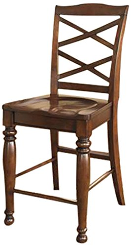 Ashley Furniture Signature Design Porter Barstool Rustic Brown Set Of 2