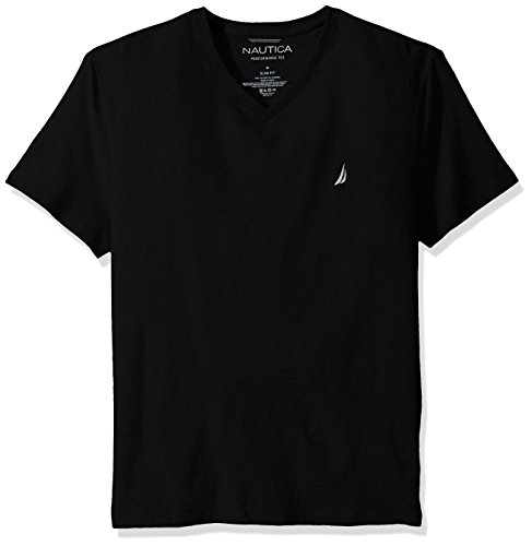 Nautica Short Sleeve V Neck T Shirt