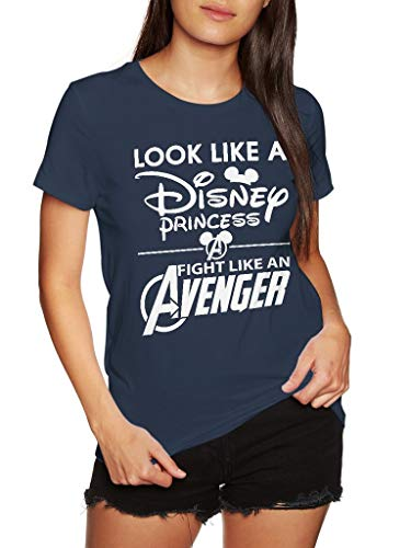 Look Like A Princess Fight Like an Avenger - Funny Vintage Trending Awesome Gift Shirt (Unisex Navy, 2XL) ()