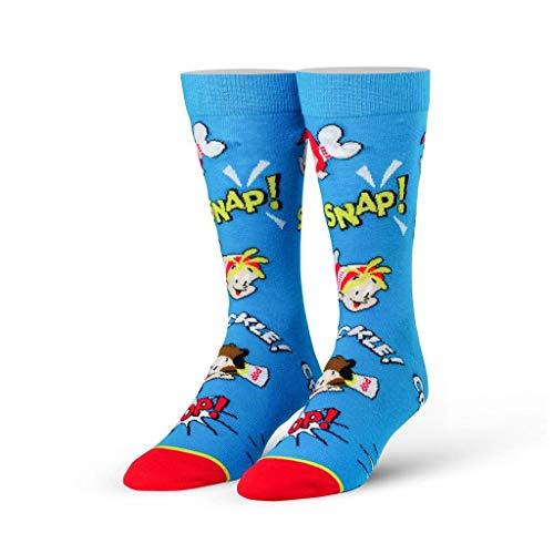 Crackle Pop - Cool Socks Men's Knit Crew Socks