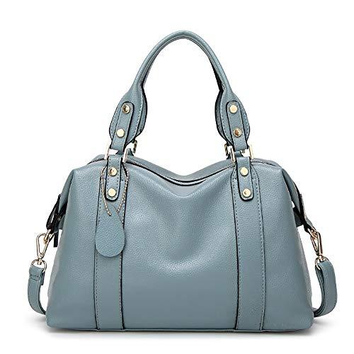 dell'unità Cbcaseñora qualità Alta elaborazione borsa con di blu inclinata spalla di della una IdOqxqwFX