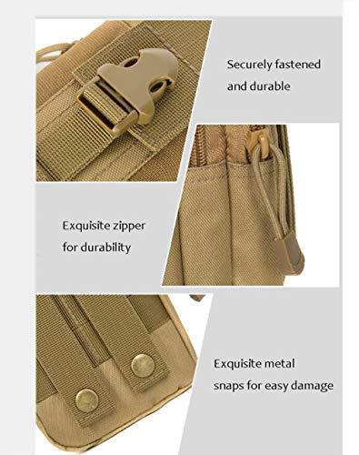 De Ceinture Usure Course Portable Alhm Sac Extérieur Tactiques Masculines Brown Téléphone Camouflage Poches HHzTqp4wA