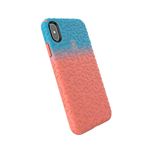 Speck Products CandyShell Fit iPhone Xs Max Case, Navigate Teal Ombre Apricot Peach/Apricot Peach ()