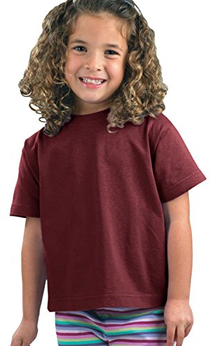 [Rabbit Skins Toddler Short-Sleeve T-Shirt (M-3301) Tee Available in 31 Colors,5T/6T,Maroon] (Maroon Kids Shirt)