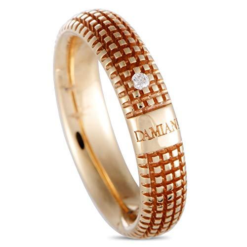 Damiani Metropolitan 18K Rose Gold 1-Diamond Textured Band Ring