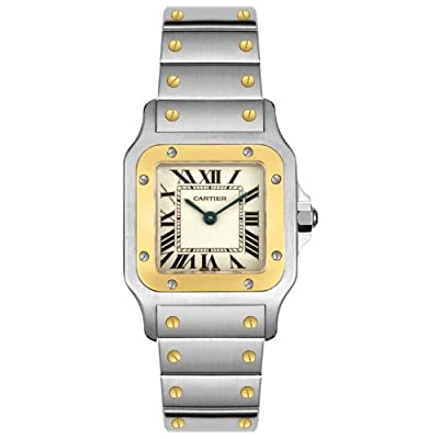 Cartier Women's W20012C4 Santos 18K Gold and Stainless Steel Watch