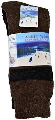 3 Pack Rabbit Wool Angora Thermal Men Socks Fits 10-15 Winter Outdoor Socks New (Sale Thermal)