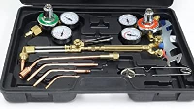 Gas Cutting Welding Kit Torch Acetylene Victor Welder Oxygen Oxy Type Regulator Set Cga New Tool Kits And Case W 1yr Warranty