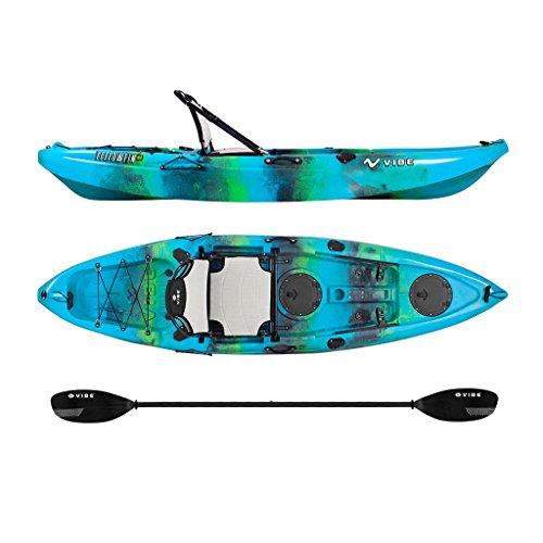 Vibe Kayaks Yellowfin 100 | 10ft Angler Sit On Top Kayak | 1 Person Fishing Kayak w Journey Paddle & Hero Seat