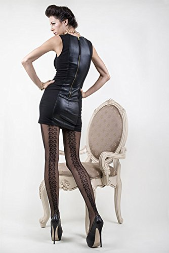 - Otwo Women's Sexy Black Fishnet Pantyhose (One Size, BACKSEAM RIBBONS)