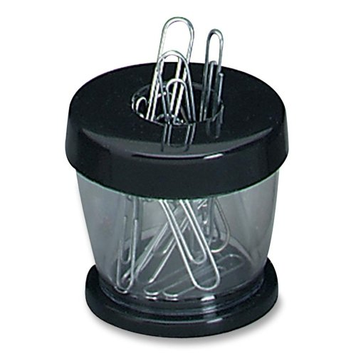 Wholesale CASE of 25 - Gem Office Products Paper Clip Dispenser-Clip Dispenser, Magnetic, Clear/Black