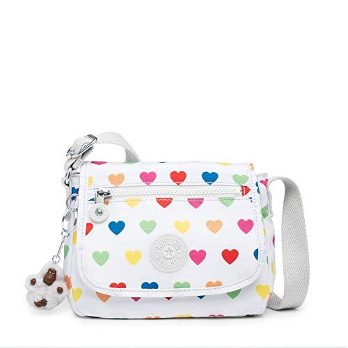 Kipling Sabian Printed Crossbody Mini Bag Wild Hearts White (Handbags With Hearts)