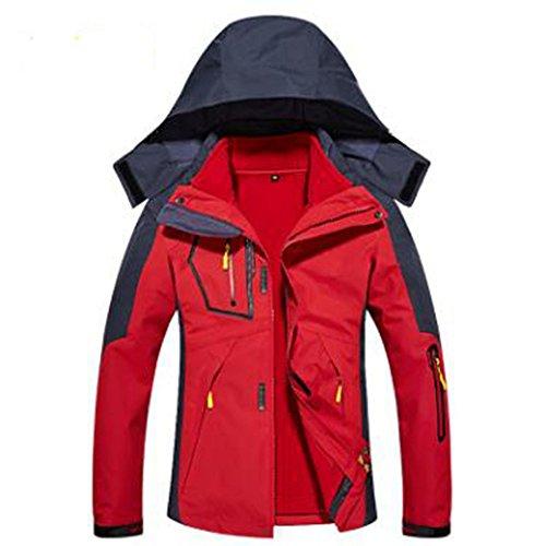 In Da Mountain Giacche Pile Capispalla Rimovibile Caldo Fodera Rosso Wear Donna Tre Una FdFxtRq