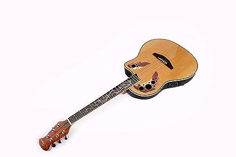 Hjyi Guitarra de Goma de Vuelta Guitarra de balada de Chapa de Abeto ...