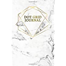 Dot Grid Journal: Nifty Grey Marble & Gold Inspirational Small Pocket Size Dotted Bullet Notebook with Dot Grid Pages for Journaling, Tracking and Planning.