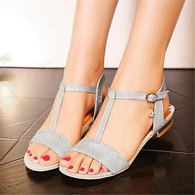 LvYuan MujerOtro Zapatos del club-Sandalias-Boda Vestido Informal-Materiales Personalizados Purpurina-Rosa Plata Oro Gold