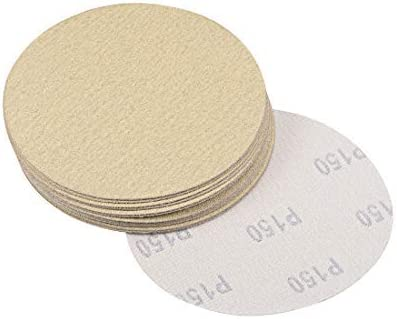 5 Inch 150-Grain Hook and Loop Sanding Discs Aluminum Oxide 15 pieces