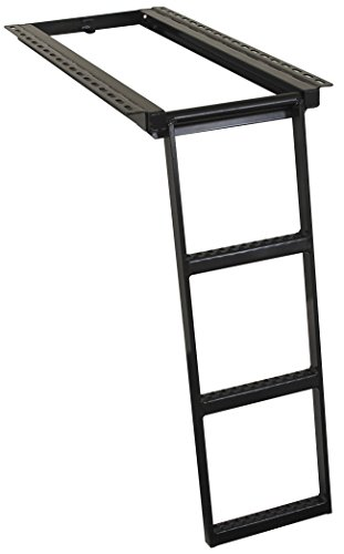 Buyers Products 5233000 Black 3-Rung Retractable Truck (Retractable Step)